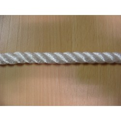 Mètres de cordage en Polyamide Câblé, Ø 12 mm, Blanc, 3 Torons