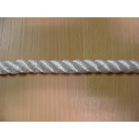 Mètres de cordage en Polyamide Cablé Blanc 12 mm