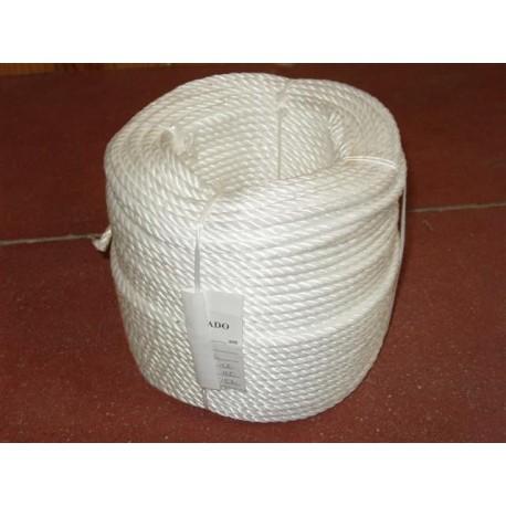 Corde en Polypropylène Cablé 6 mm Blanche