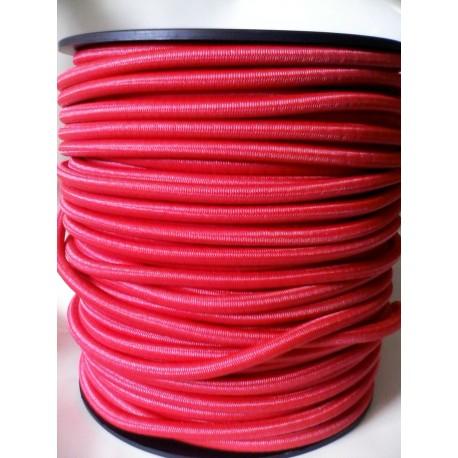 Sandow Supérieur Ø 8 mm, Rouge uni, en bobine de 100 mètres