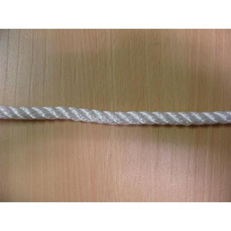 Mètres de cordage en Polyamide Câblé, Ø 10 mm, Blanc, 3 Torons