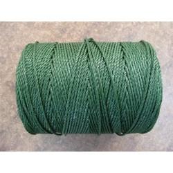 Corde en Polyéthylène Câblé Ø 2.3 mm, Vert Anglais, en bobine de 1 kg