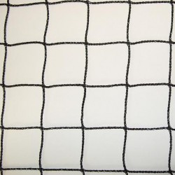Filet en polyéthylène, Noir, Tressé sans noeud, Mailles 50 mm, non ralingué
