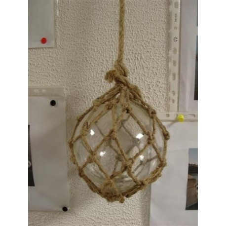 Boule de décoration Transparente avec Filet en Jute