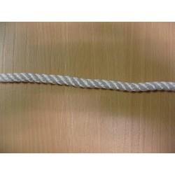 Mètres de Cordage en Polyamide Cablé, Ø 8 mm, Blanc, 3 Torons