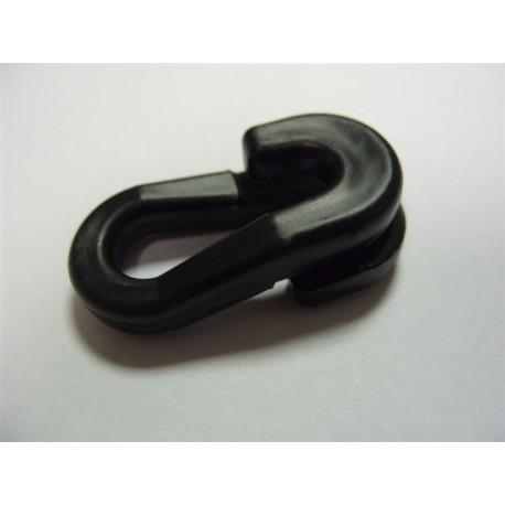 Anneau Brisé en PVC Noir