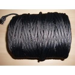 Tresse Polyamide Ø 6.2 mm, Noire, 70 M/kg, en Bobine de 2 kg