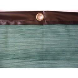 Brise-vent filtration 90% Vert + Bande PVC + Oeillets