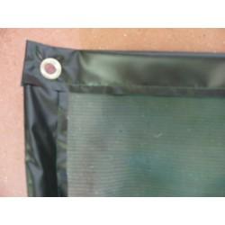 Filet de Benne BV170 avec bande PVC Noire + Oeillets