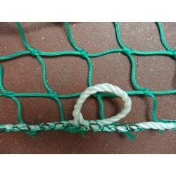 Filet de Benne, Vert, en Tresse Polyéthylène Mailles 50 mm + cordage 6 mm