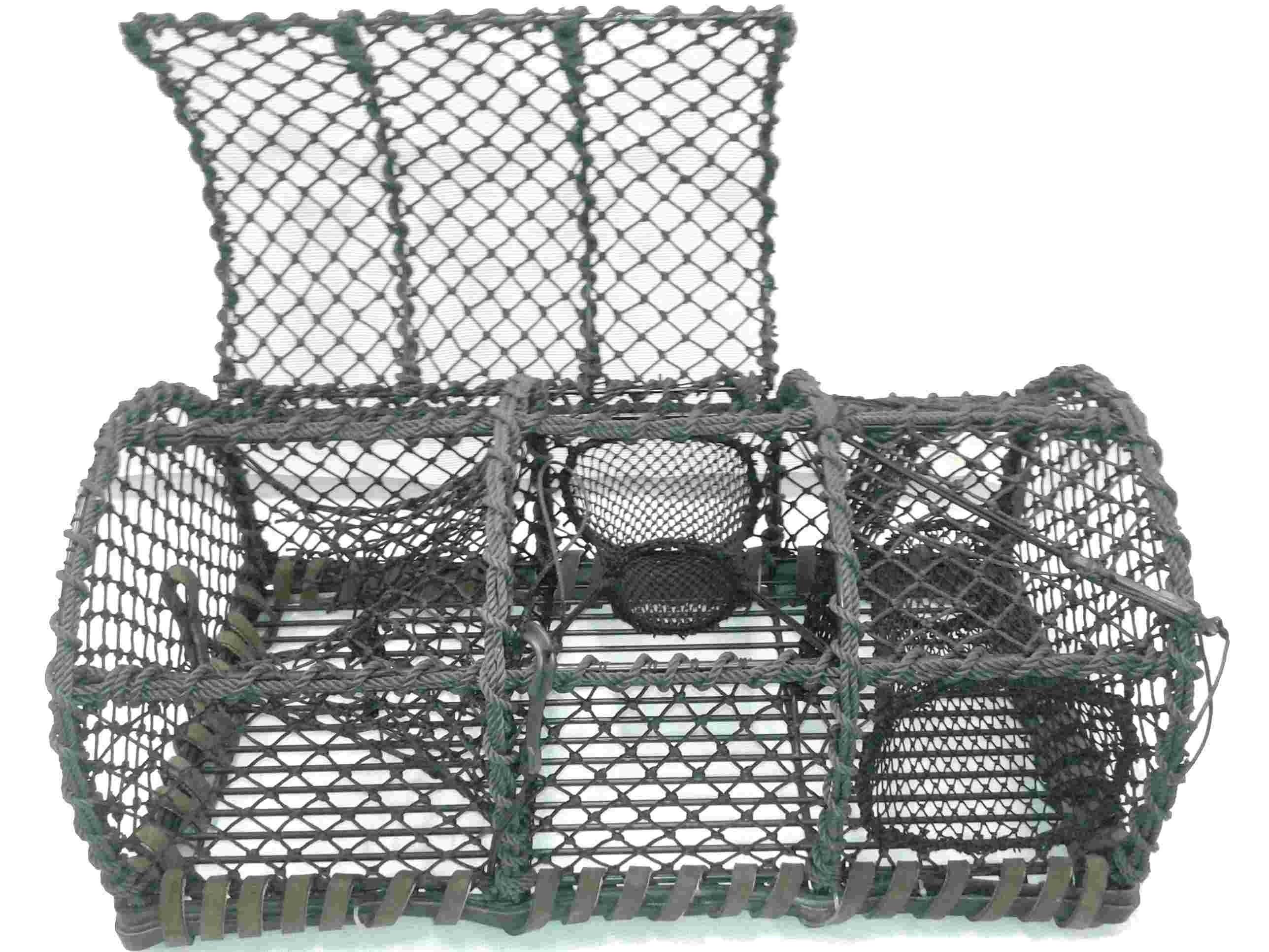 Fabriquer Un Casier À Homard casier à crabes avec 2 parloirs - alprech filets