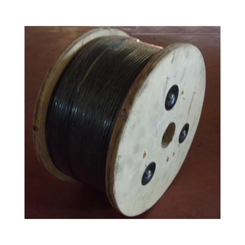 m tre de cable acier gain noir 3 mm fini 5 mm. Black Bedroom Furniture Sets. Home Design Ideas