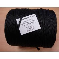 Tresse Polyamide Ø 4.75 mm, Noire, 130 M/kg, en Bobine de 2 kg