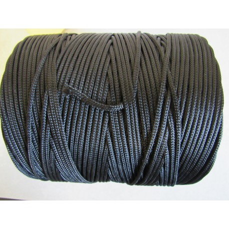 Bobine de Tresse Polyamide Ø 3 mm, Noire, 280 M/kg, de 2 kg